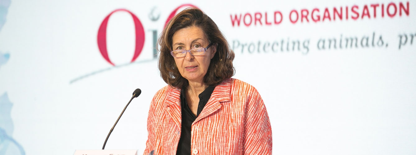 Monique Eloit, directora general de la Organización Mundial de la Sanidad Animal.